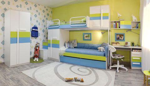 Набор детской комнаты Твист Олли с двухъярусной кроватью