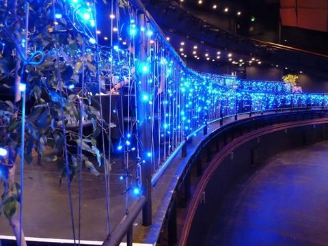 Бахрома гирлянда 10 на 0,7 метров синяя на ПВХ проводе