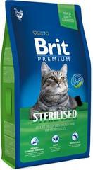 Корм для стерилизованных кошек, Brit Premium Cat Sterilised, с курицей и печенью