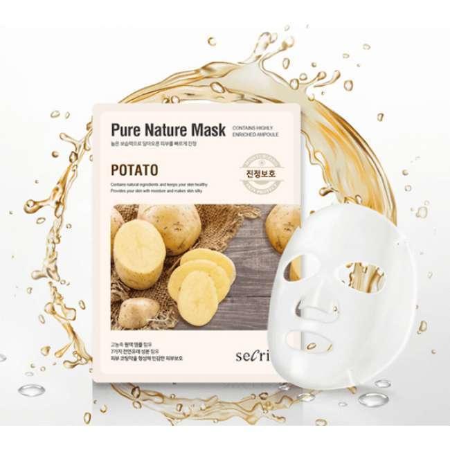 Тканевая маска для лица с экстрактом картофеля Secriss Sheet Mask - Potato