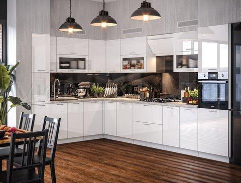 Кухня Техно Белая 2.2-3