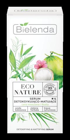 ECO NATURE Кокосовая вода+Зеленый чай+Лемонграсс Сыворотка детоксифицирующая матирующая 30мл