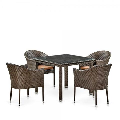 Комплект плетеной мебели T257A/Y350A-W53 Brown 4Pcs