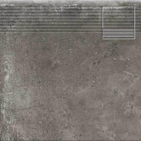 Cerrad Piatto Antracyt - Ступень простая структурная 30х30