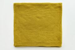 Плед вязанный детский хлопок/акрил 80*90 см Горчичный