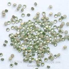 2058 Стразы Сваровски холодной фиксации Chrysolite ss 5 (1,8-1,9 мм), 20 штук