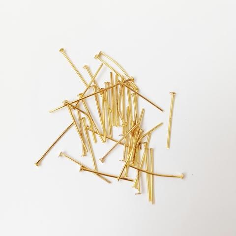 Пины-гвоздики, 20 мм. Цвет золото. 40 шт