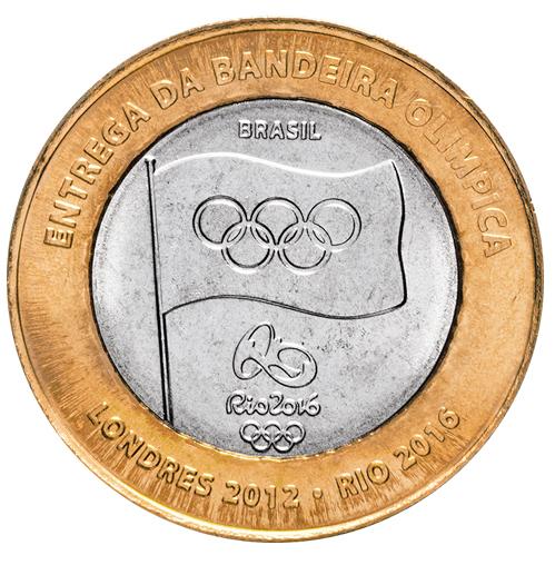 1 реал Вручение олимпийского флага 2016 год