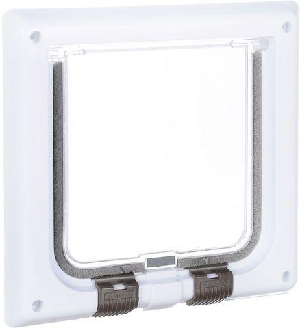 Trixie дверца для кошки 16,5x17,4 см с 4мя функциями белая