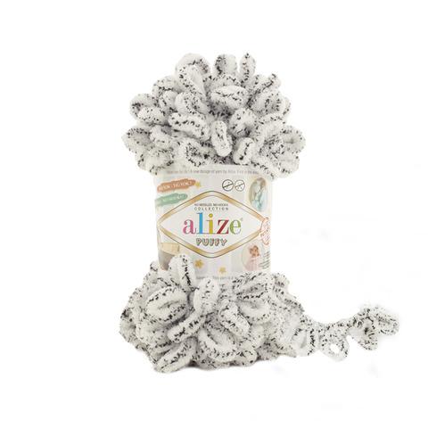 Купить Пряжа Alize Puffy Код цвета 686 Белый леопард | Интернет-магазин пряжи «Пряха»