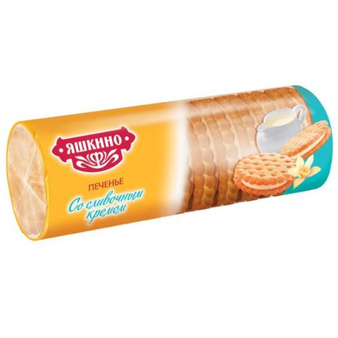 Печенье затяжное Яшкино со сливочным кремом 182 г