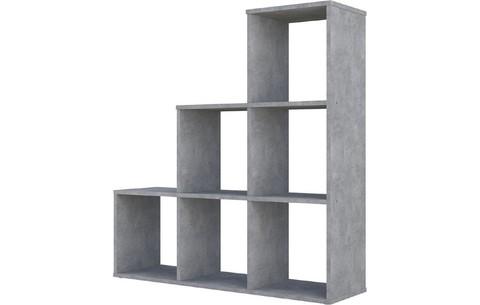 Стеллаж Polini Home Smart Каскадный 6 секций, бетон