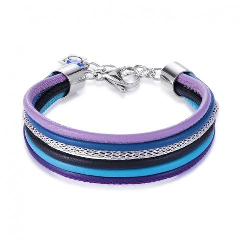 Браслет Coeur de Lion 0120/30-0708 цвет фиолетовый, синий, чёрный