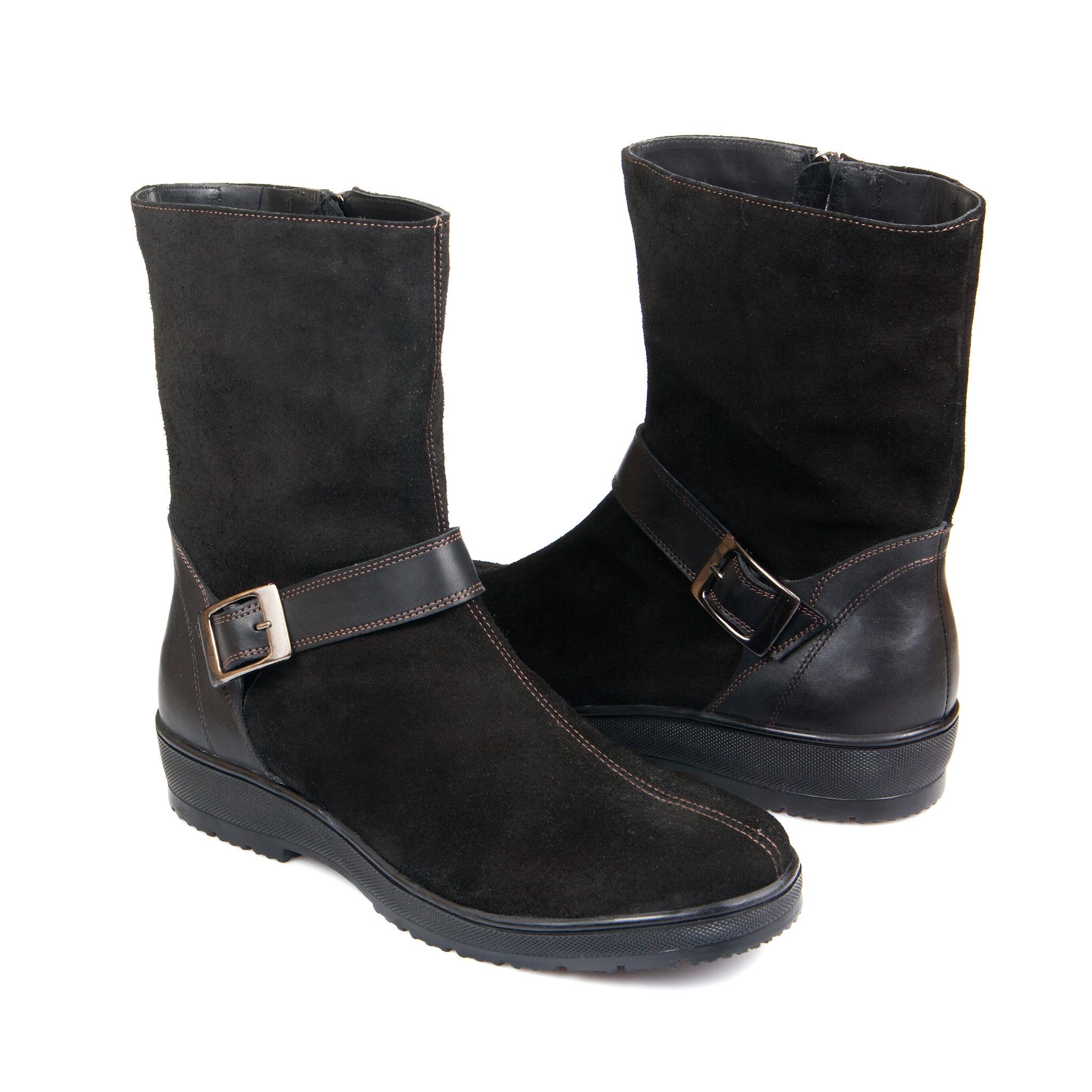 626459 полусапожки женские черные больших размеров марки Делфино