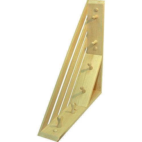 Вешалка с полочкой угловая с 6 крючками