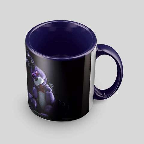 Тёмно-фиолетовая кружка с Бонни