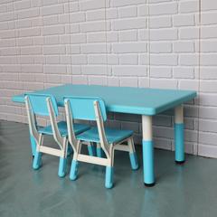 пластиковый регулируемый прямоугольный стол, 120х60см, голубой