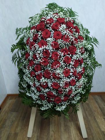 Венок из живых цветов элит ВЖ-21