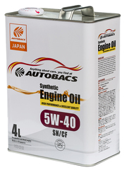 AUTOBACS ENGINE OIL SYNTHETIC 5W40 SN/CF (4л)