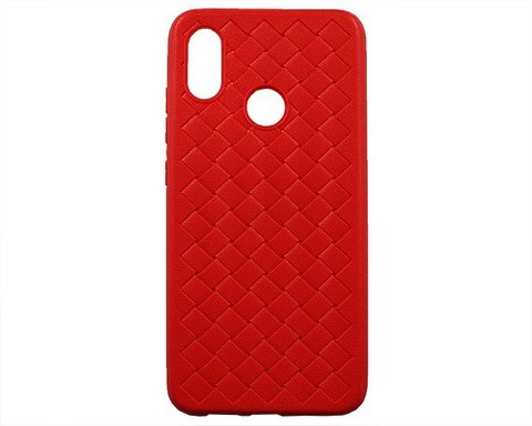 Чехол для Xiaomi Mi8 | серия плетение красный