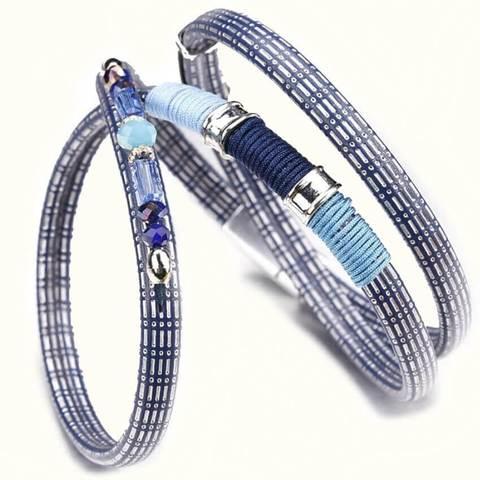 женский кожаный браслет серебряный кристалл