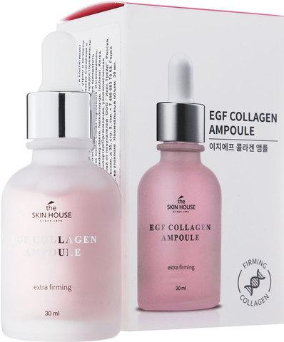 Укрепляющая ампульная сыворотка с EGF и коллагеном, 30мл, The Skin House EGF Collagen Ampoule