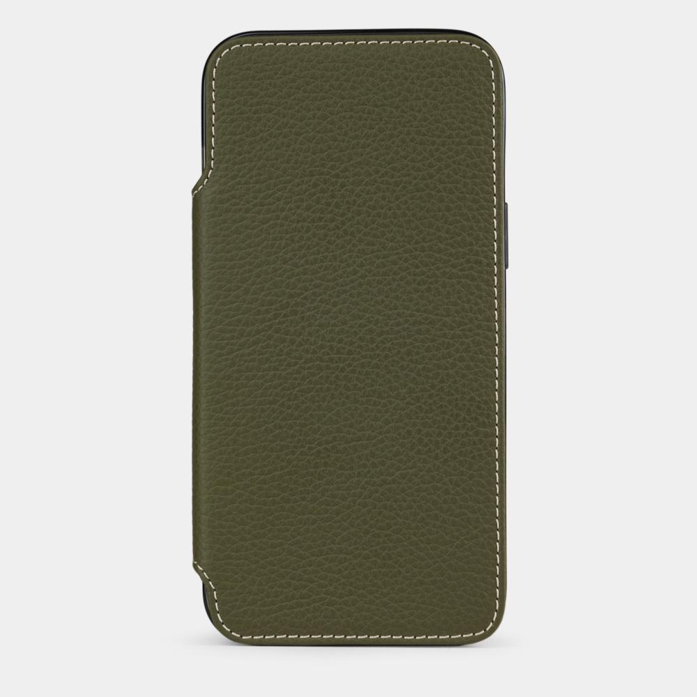 Чехол Benoit для iPhone 12/12Pro из натуральной кожи теленка, зеленого цвета