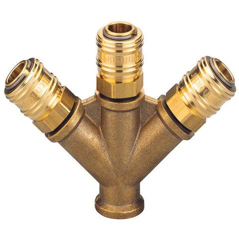 Разветвитель с соединительными розетками VT 3 G3/8i-3xSK