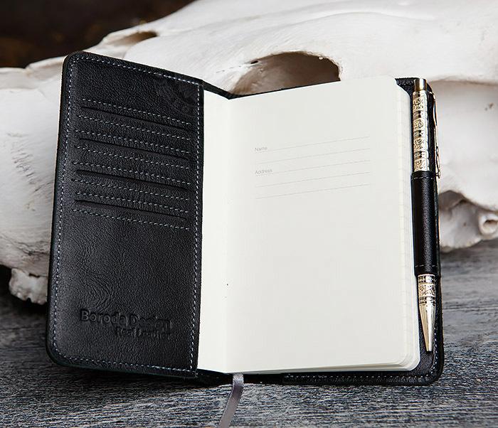 BC136-1 Кожаный блокнот ручной работы со сменным блоком (А6) фото 06
