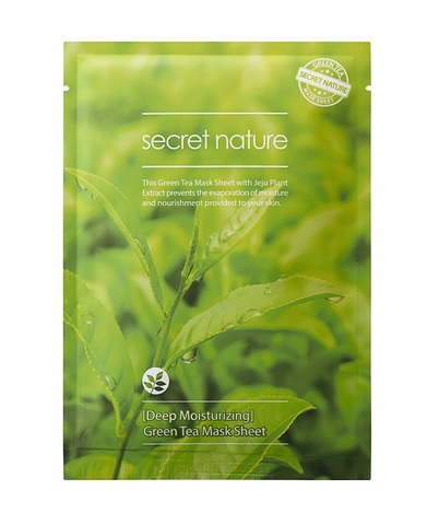 Суперувлажняющая маска с зеленым чаем - Secret Nature Deep MoisturizingGreen Tea Mask Sheet