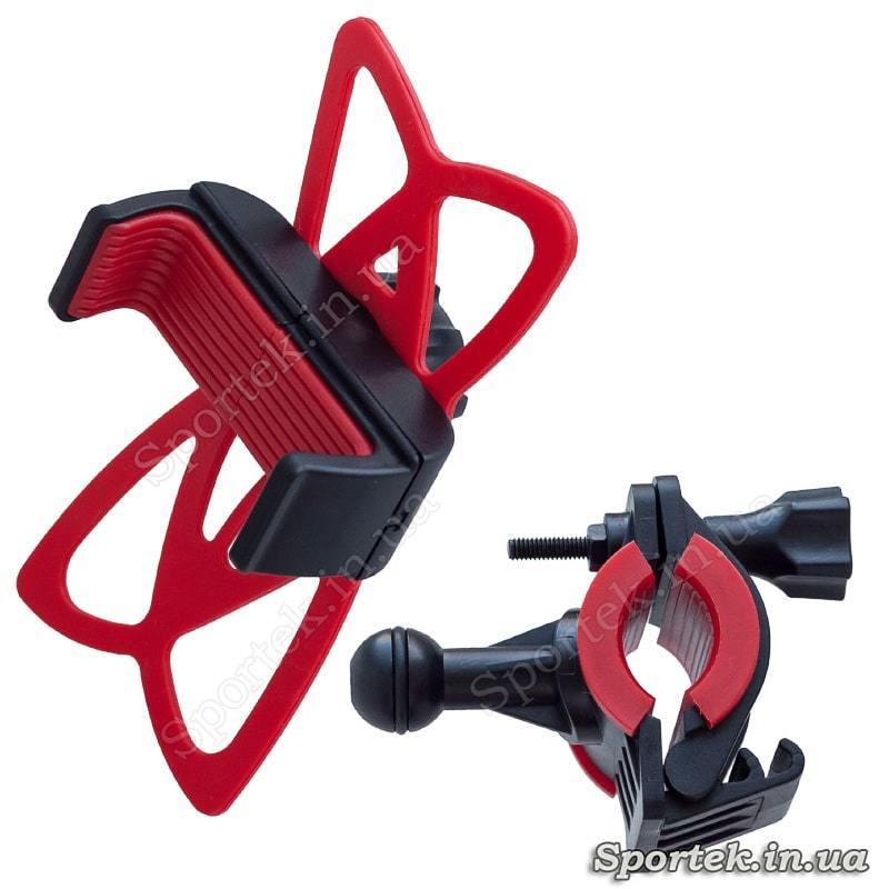 Силіконове кріплення Yo-B089 на кермо велосипеда для смартфонів 4.5-6 дюймів