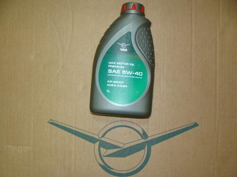 Масло моторное УАЗ Premium 5W-40 (1 л) синт.API SN/CF (Лукойл)