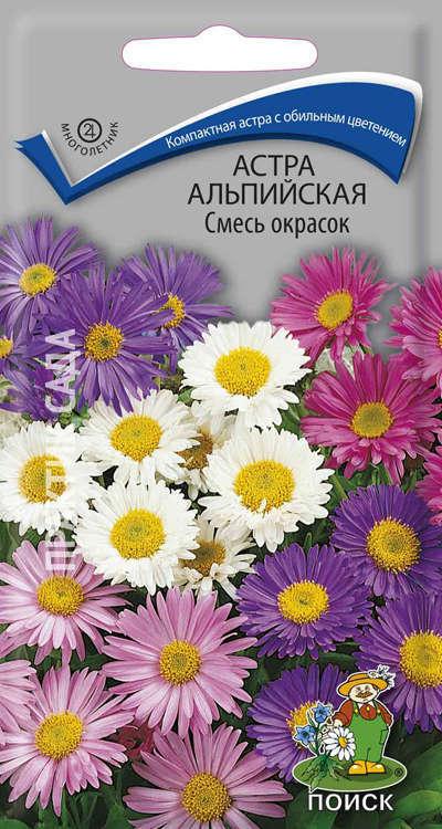 Семена Астра альпийская Смесь окрасок
