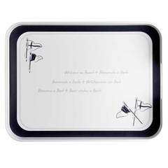 MELAMINE RECTANGULAR TRAY, WELCOME ON BOARD