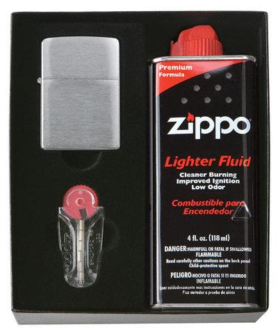 Набор подарочный для широкой зажигалки Zippo, черный, 118х43х145 мм123