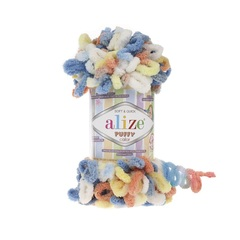 Пряжа Alize Puffy Color цвет 5866