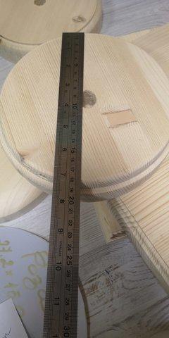 Подставка заготовка для изготовления настольного светильника под 20 диаметр трубы с 1 отверстием. Круг, 28*28(+-1см). Высота 4,2см.