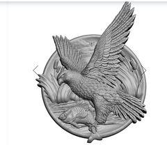 Силиконовый молд   Ястреб - м   (медальон)  № 0478