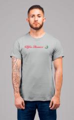 Мужская футболка с принтом Альфа Ромео (Alfa Romeo) серая 002