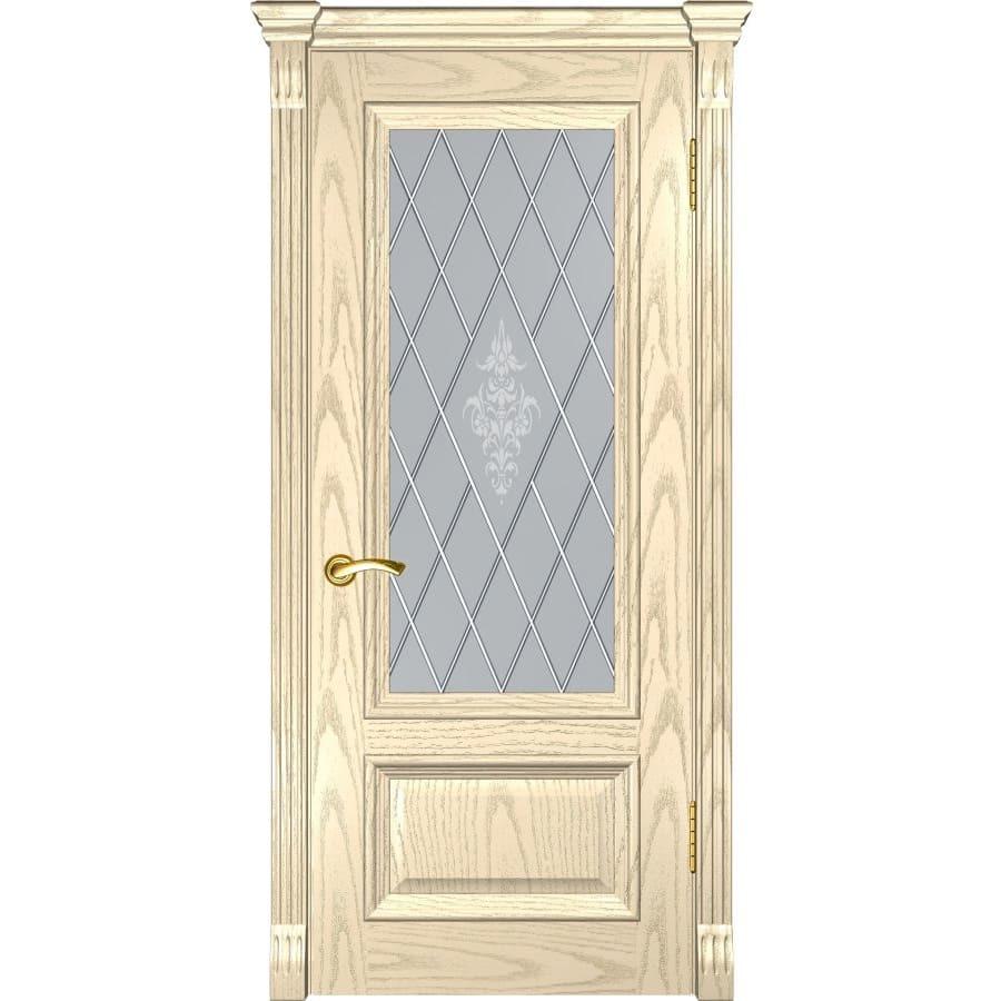 Двери классика Межкомнатная дверь шпон Luxor Фараон 1 дуб слоновая кость остекленная faraon-1-do-slonovaya-kost-dvertsov.jpg