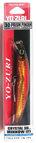 Воблер Yo-Zuri Crystal 3D Minnow 110 F / F1146-GHBR