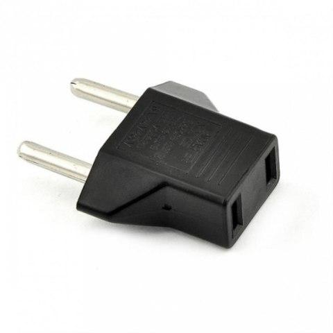 Переходник электрический  адаптер с плоских вилок США на Европейские
