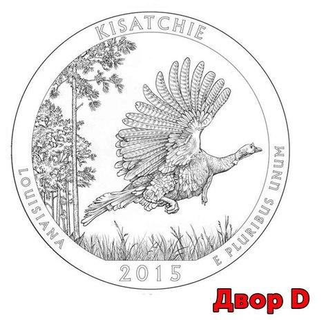 25 центов 27-й парк США Национальные лес Kisatchie 2015 год (двор D)