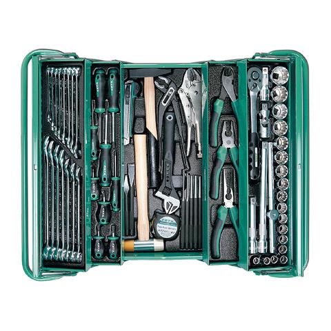 Набор инструмента в металлическом ящике, 68 предметов, HONITON IK-106