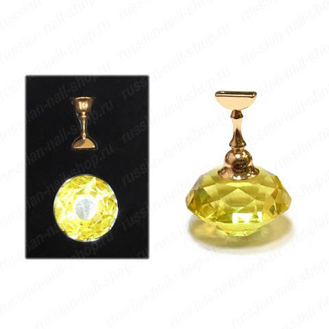 Подставка для демонстрации дизайнов (камень малый, 1 основа) Желтый SDD-1SS
