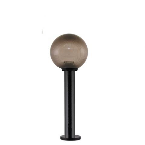 Садово-парковый светильник шар дымчатый призма D200mm с пластиковой опорой H600mm