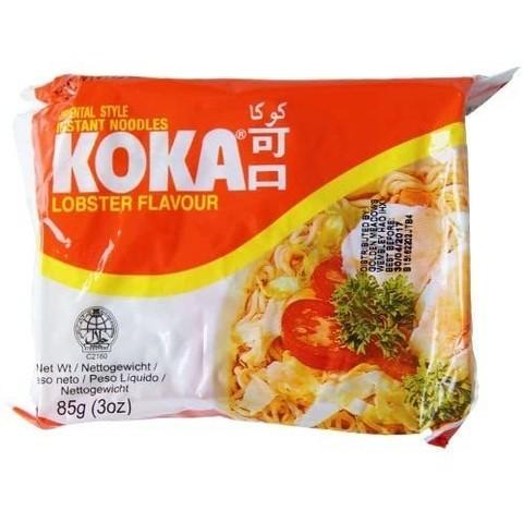Лапша сингапурская со вкусом лобстера в пакете KOKA, 85г