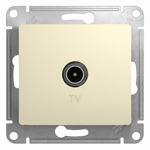 Розетка TV проходная 4DB. Цвет Бежевый. Schneider Electric Glossa. GSL000292
