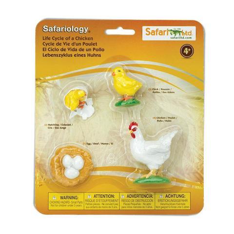 Набор фигурок Жизненный цикл курицы, Safari Ltd.
