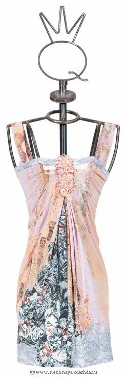 Летнее платье из вискозы Save The Queen